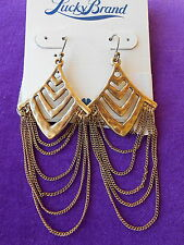 Lucky Brand Authentic NWT Gold-Tone Chandelier Multi-Layer Earrings