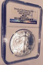 2014(S) MS-69 1oz American Silver Eagle FIRST RELEASES $1 Dollar Coin