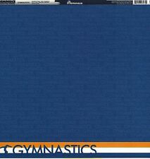 Reminisce - Gymnastics Word Scrapbooking Paper - Double Sided