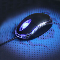 3D 800DPI WIRED USB OPTICAL MOUSE MICE FOR PC LAPTOP COMPUTER SCROLL WHEEL BLACK