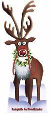 RUDOLPH DER ROTEN NASIG RENTIER PAPPFIGUR Weihnachten party requisit dekor