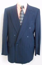 Barneys NY Kilgour French Stanbury Double Breasted Blazer Navy Pinstripe Mens 42