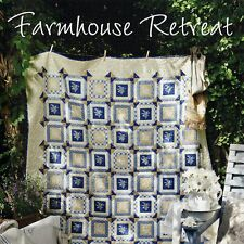 NEW BOOK: Farmhouse Retreat: 3 Log Cabin Quilts & Wool Applique Pillow