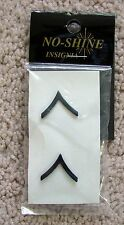 NEW MILITARY UNIFORM INSIGNIA - U.S. ARMY BLACK SUBDUED PRIVATE RANK
