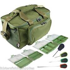 Green Carp Coarse Fishing Tackle Bag Holdall NGT 537 + 4 Bit Boxes 4pc Tool Set