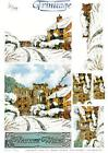 3D Trinitage Pop-up Card Making Paper Tole Winter Abbey NEW