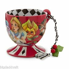 New Disney Parks Alice In Wonderland Mad Hatter Party Tea Cup Ornament Figurine