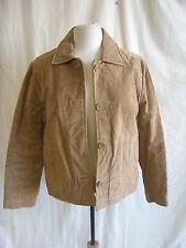 Ladies Coat - Wilsons Leather Maxima, size S, light brown, 100% suede - 7228