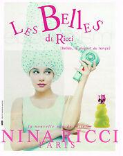 PUBLICITE ADVERTISING 124  1996  NINA RICCI  eau de toilette LES BELLES 3
