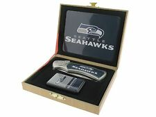 Folding Knife and Flip top Lighter Gift Set - Seattle Seahawks