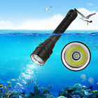 IPX8 5000LM CREE XML T6 LED SCUBA Diving Waterproof Flashlight Torch Light 18650
