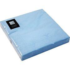 20 x luce blu a 3 strati carta tovaglioli 33 cm quadrato partito tovaglioli stoviglie cuocere