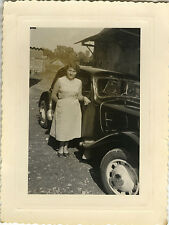 PHOTO ANCIENNE - VINTAGE SNAPSHOT - VOITURE AUTOMOBILE CITROËN FEMME - CAR WOMAN