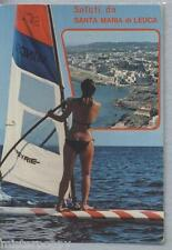 Santa Maria di Leuca PIN UP Sexy Bikini Girl Windsurf PC Circa 1980s