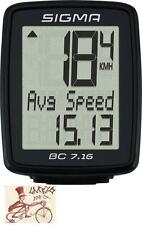 SIGMA BC 7.16 WIRED BLACK BICYCLE SPEEDOMETER COMPUTER