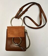"Chloe Faye Bracelet Crossbody Mini Bag Suede and Leather ""Tobacco"" SOLD OUT"