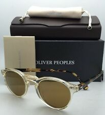 New OLIVER PEOPLES Sunglasses GREGORY PECK OV 5217-S 1485/W4 Buff /Honey w/ Gold