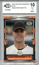 BUSTER POSEY SF Giants 2008 TriStar Prospects Plus rookie BGS BCCG 10 MINT !!