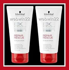 2pcs SCHWARZKOPF BONACURE Repair Rescue sealed ends 75ml damaged hair treatment