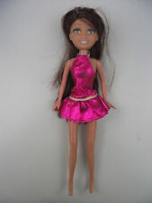 Doll with clothes: pink shimmery party dress, gold belt. Unsure type, My Scene?