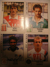 album PANINI immages lot vignette FOOTBALL 90 Foot 1990 n°166-185-258-294 FRANCE