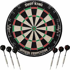 Viper Shot King Sisal Fiber Bristle Dartboard with Staple-Free Bullseye