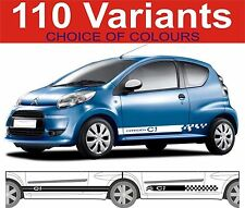 citroen c1 side stripe decals c1 vtr vts choice of design 2 off