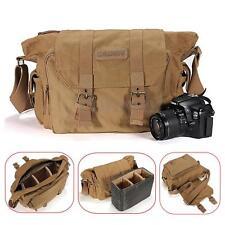 Universal Canvas Cotton Shoulder Messenger Case Bag For DSLR SLR Digital Camera