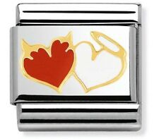 nomination charm Angel And Devil Hearts RRP £22