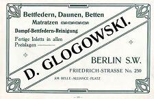 Glogowski Berlin plumes à lit-Duvet-lits-Matelas historique la publicité de 1910