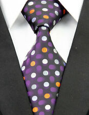 AS0223 Pink Yellow White Dot Classic Elegant Woven 100%Silk Necktie Man's Tie