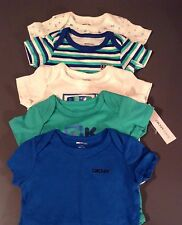 NWT DKNY INFANT 5 PACK ONE-PIECE BODYSUITS 6-9 MONTHS WITH RETAIL TAG FOR $48
