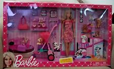 BARBIE ADORABLE PETS GIFT SET DOLL & 6 PETS CATS & DOGS  W/ ACCESSORIES *NEW*