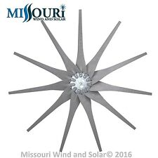 11 Raptor Generation 4 GRAY wind turbine generator blades and hub made in USA