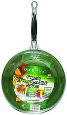 "Telebrands Orgreenic Frying Pan 10"" Inch Ceramic Non-stick New EBiz"