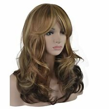 eNilecor 3 Tones Blonde Mixed Wigs 20 Inch Medium Long Curly Full Natural Women