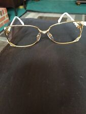 Vintage Designer Eyeglass Frame! Crazal. Frame Gold And White. Rx Ready