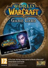 World of Warcraft 60 Day Pre-paid Gamecard Timecard US