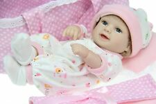 "Lifelike 10""  Reborn Baby Full Vinyl Girl Doll Handmde Real Looking Baby Dolls"