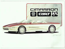 1985 CADILLAC CIMARRON CART PPG Concept Car BROCHURE Trackside Vehicle
