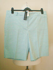"Talbots Ladies Cotton Spandex Aqua Green High Rise Shorts 4 (37"" Waist Actual)"