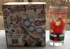 Set of FOUR Block Father Christmas Hiball Glasses Tumblers