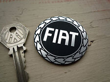 FIAT Garland Logo Style Laser Cut Self Adhesive Car Badge 48mm Abarth 500 Punto