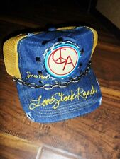 unisex LOVE STOCK RANCH by christian audigier RANCH TRUCK CHAIN CAP yellow - o/s