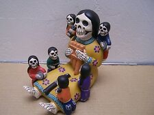 Large Day of the Dead Skeleton Musical Storyteller, Yellow - Peru