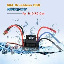 Waterproof 60A Brushless ESC Speed Controller w/ 6V/2A BEC for 1/10 RC Car K3K2