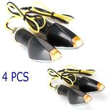 4X UNIVERSAL MOTORCYCLE 14 CLEAR LED TURN SIGNAL INDICATORS LIGHT SPORT BIKES 00