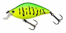 Yo-Zuri Crystal Minnow 3DS FLAT CRANK F1141-HT Firetiger Green 55mm 3D Lure NEW