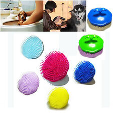 Cat Dog Pet Hair Shampoo Scalp Body Cleaning Massage Grooming Bath Brush Comb
