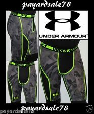 """MEN'S SIZE SMALL UNDER ARMOUR MESH COMPRESSION SHORTS 10"""" BLACK SONIC PRINTED"""